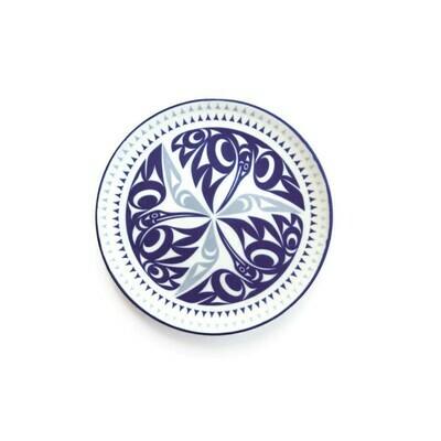 Porcelain Art Plate - Hummingbird