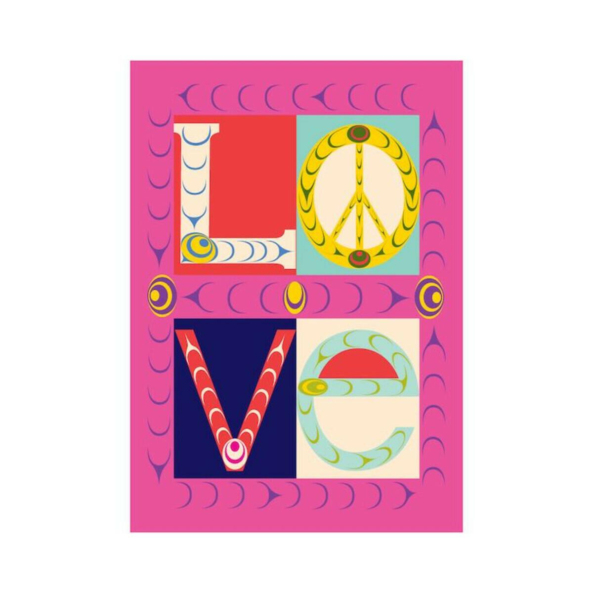 Folding Greeting Card - Love