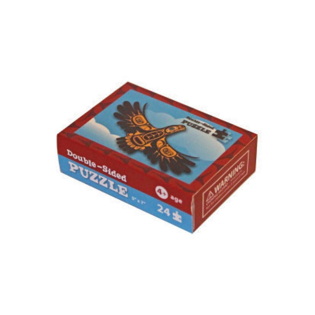 Mini-Puzzle (2 sided)  - Eagle & Wolf