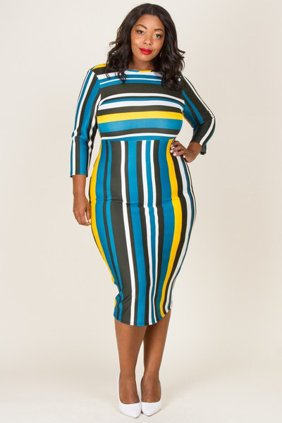 On My Way Midi Dress UPDR601-ONMYWAY