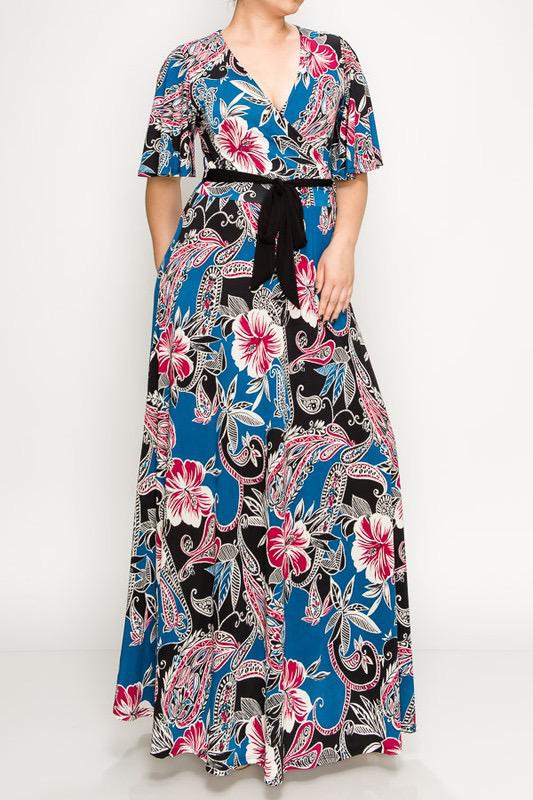 Zenah Maxi Dress-Curvy UPDR720-ZENAH