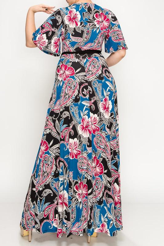 Zenah Maxi Dress-Curvy