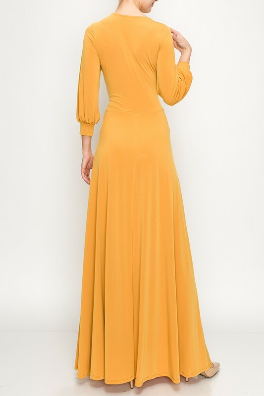 Melodic Maxi W/ Tie Front