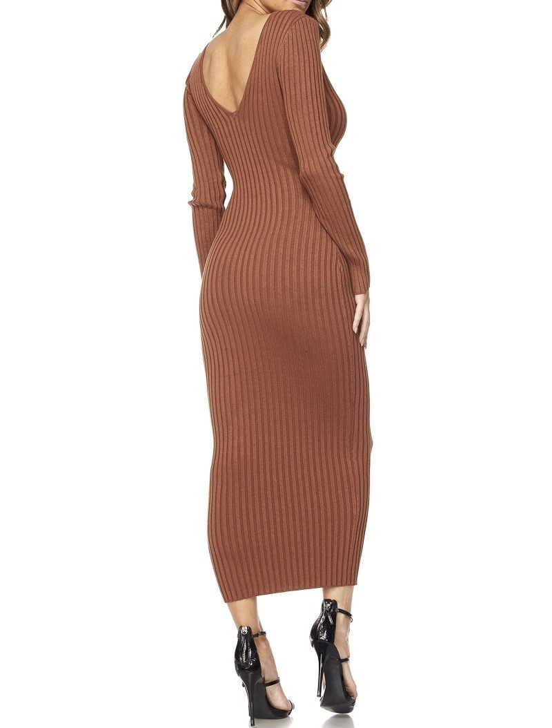 India Ribbed Midi Dress