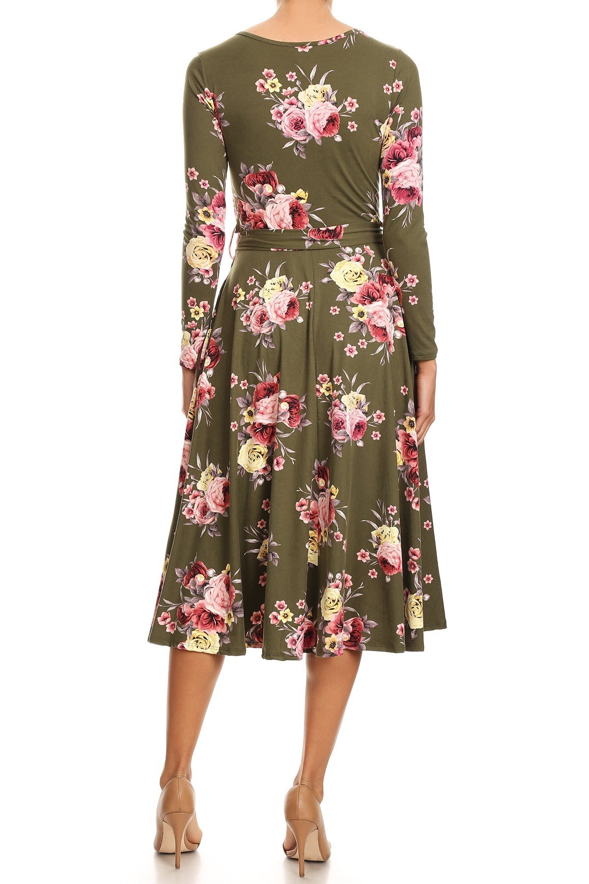 Floral Swing Dress Back View