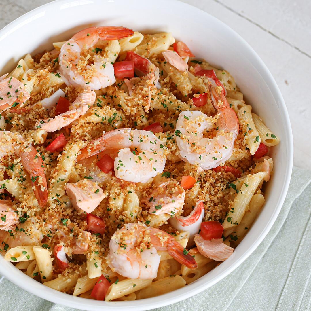Creamy Seafood Pasta Bake