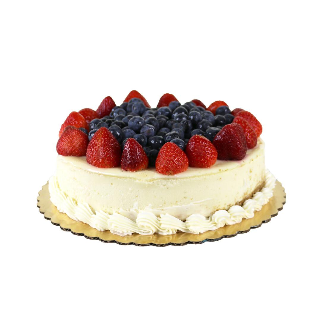 Fresh Fruit Topped Cheesecake