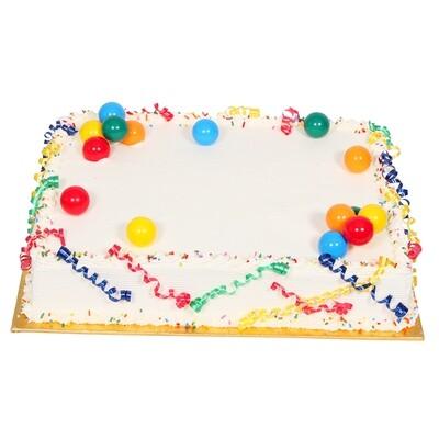 ½ Sheet Cake