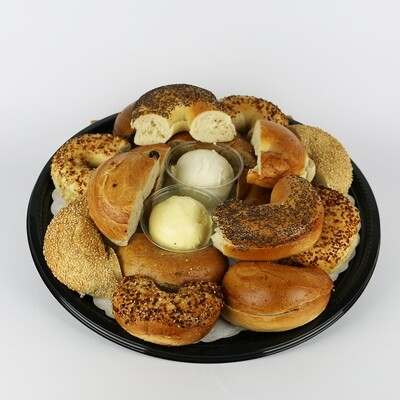 Bagel Tray with Cream Cheese and Whipped Butter