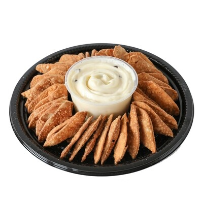 Cannoli Chips and Dip Tray