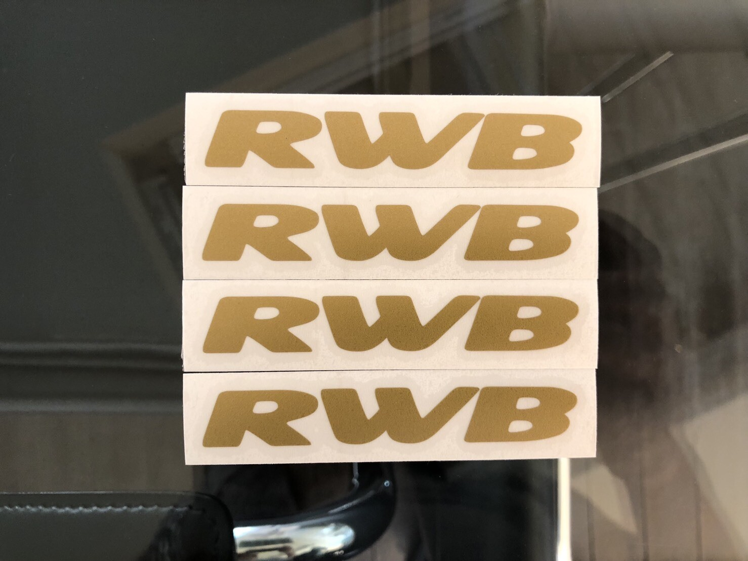 RWB Sticker 83mm×13mm ( Set of 4 Sheet )