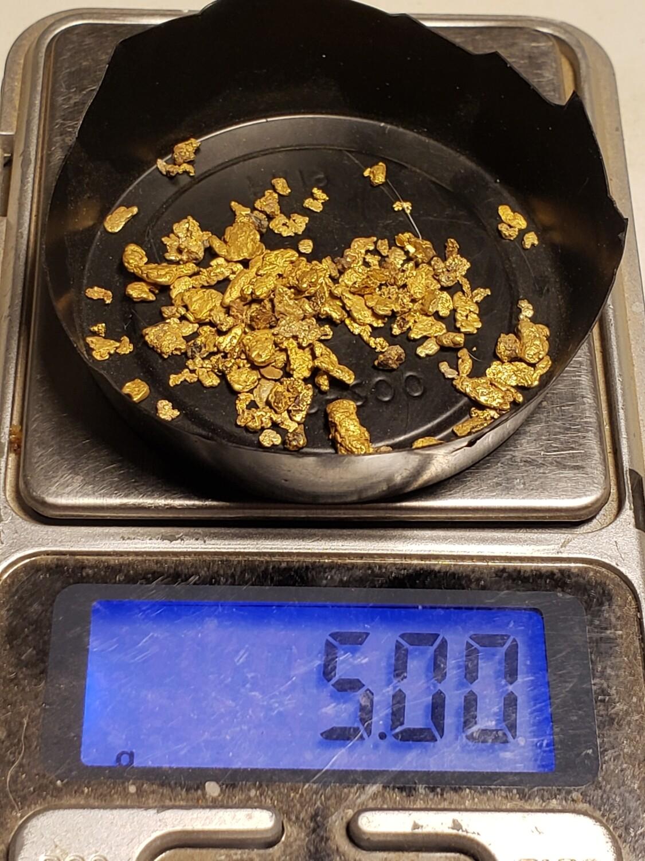 5.0 grams mixed gold nuggets