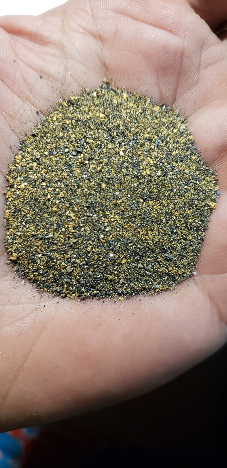 Black sand and gold only paydirt - 1 gram