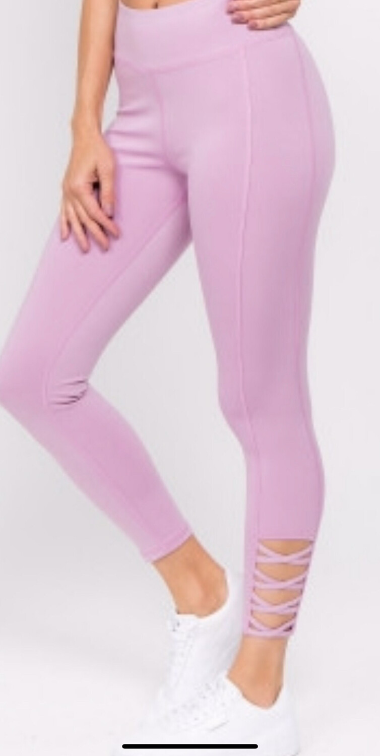 High Rise Lavender Leggings