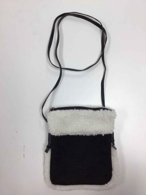 Faux Suede/Fur Crossbody Bag