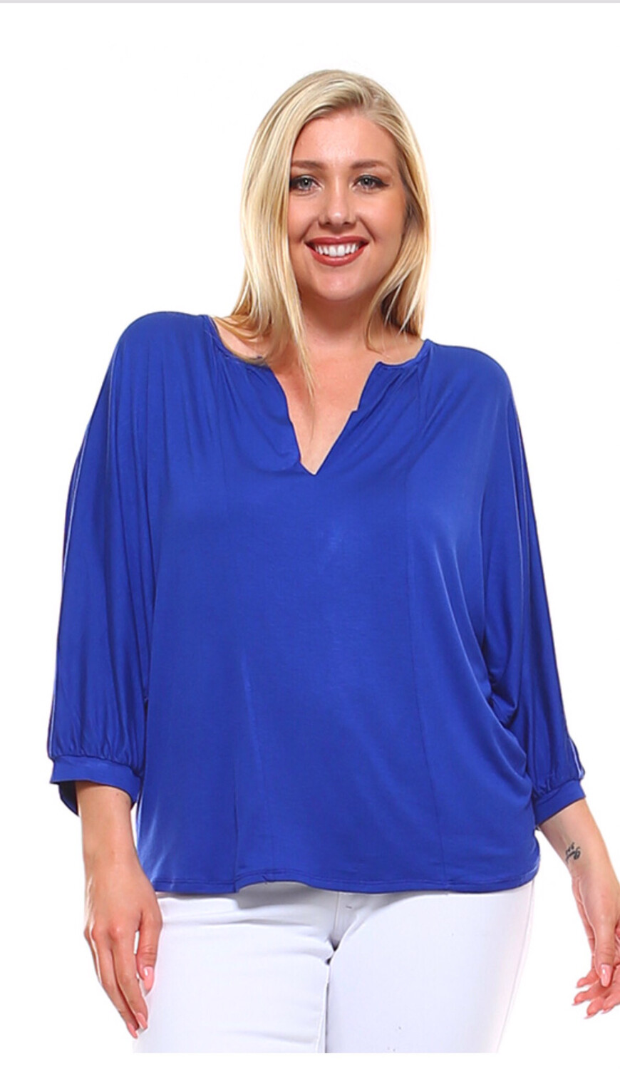 Cobalt Blue 3/4 Plus Top