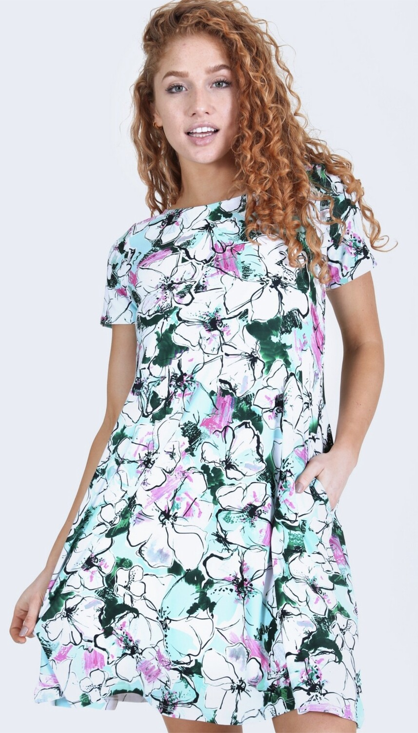 SPRING FLOWER DRESS REG/PLUS