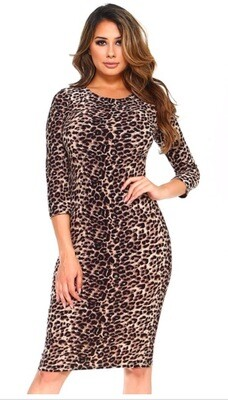 Tight Leopard Dress