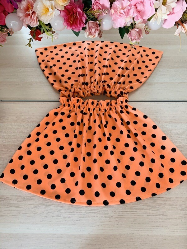 Falda Naranja Topos