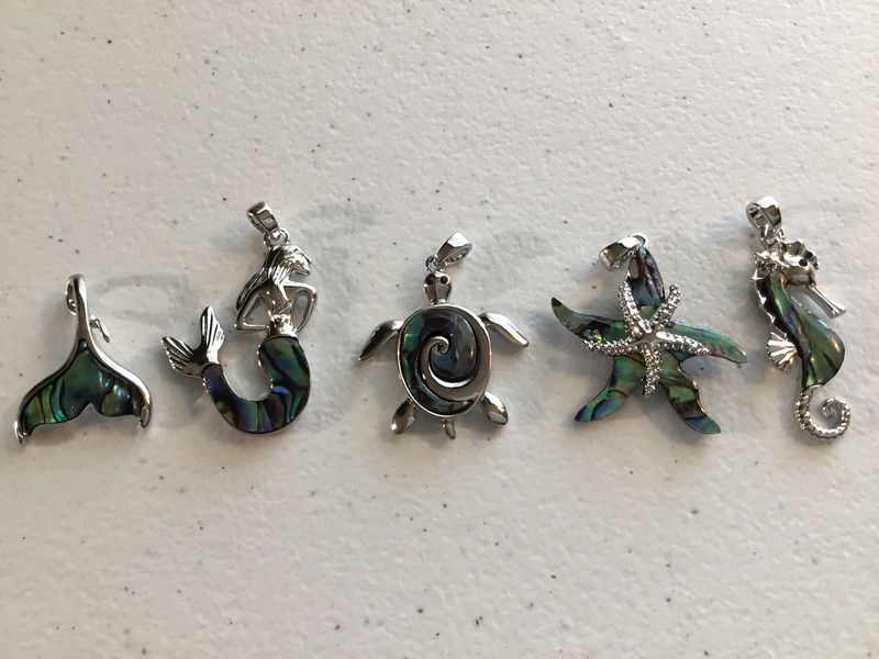 Abalone Sea Creature Pendants