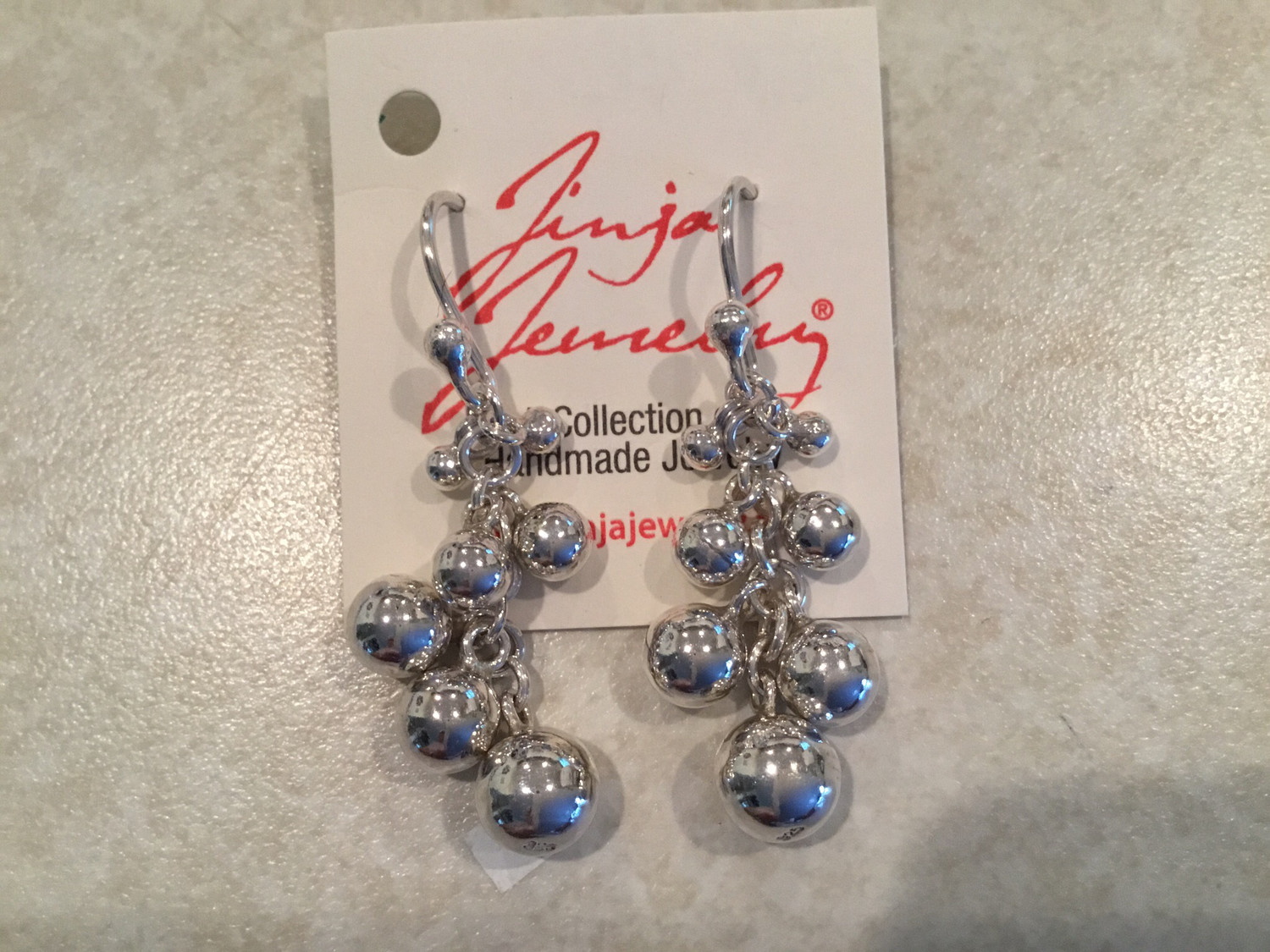 Sterling Silver Drop Chain And SS Ascending Balls