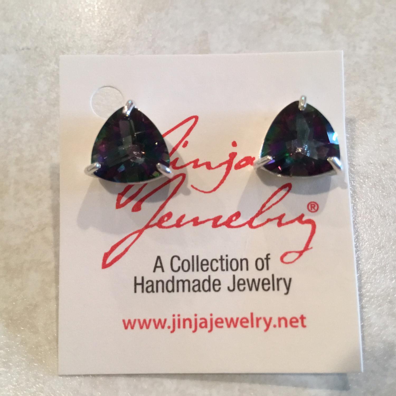 Sterling Sterling Brilliant Mystic Topaz Post Earrings