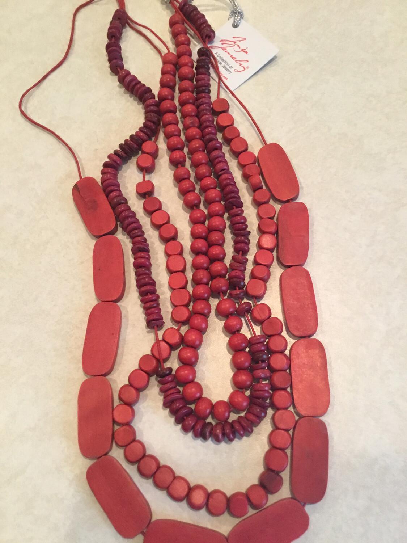 Sono Wood Four Strand Beautiful Handmade Necklace