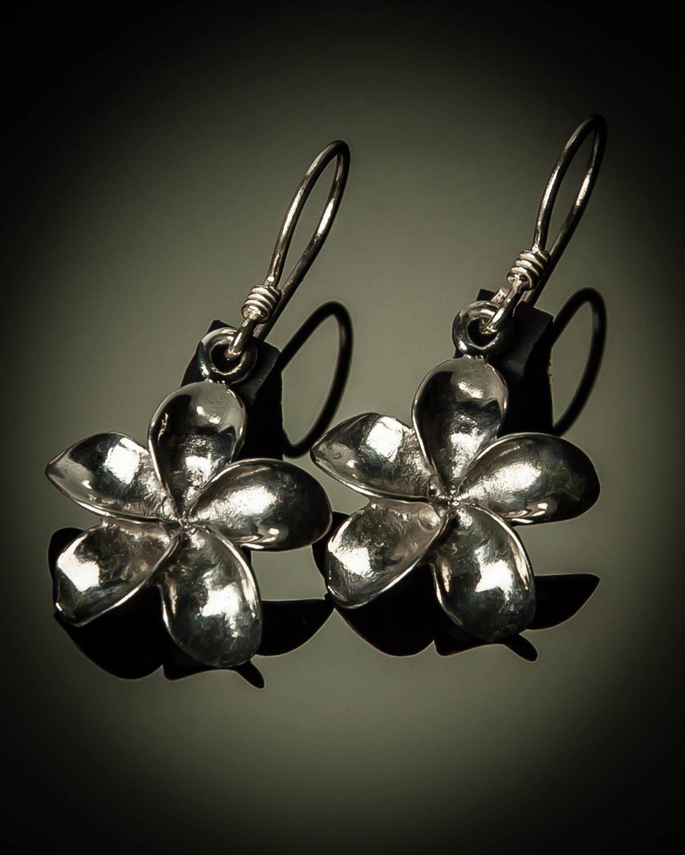 Frangipani Sterling Silver Earrings