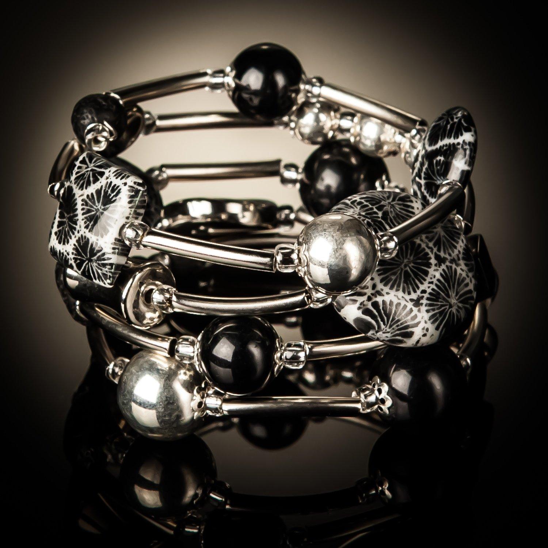 Black Coral Twist Bracelet