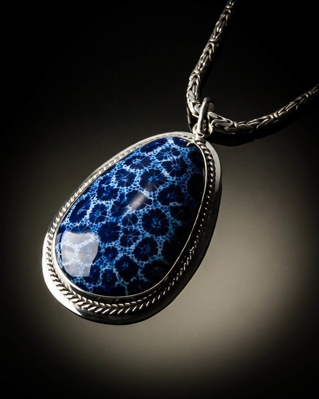 Sterling Silver Native Look Pendant