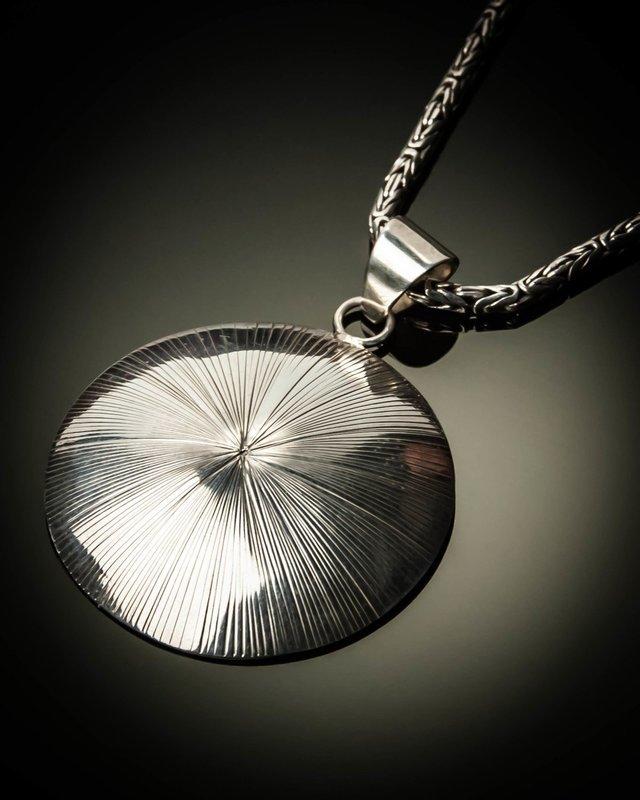 Sunburst Sterling Silver Pendant