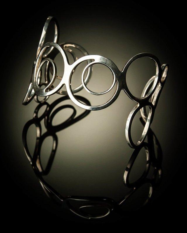Sterling Silver Multi Circle Loop Bracelet