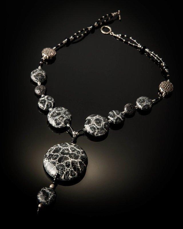 Black Coral Pendant Black Coral Beads Necklace