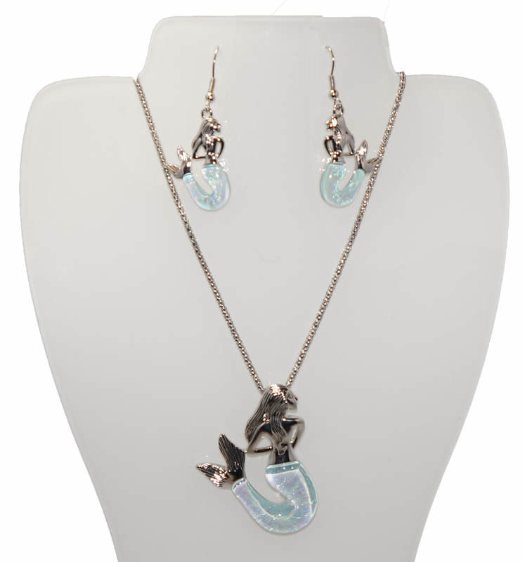 Mermaid Necklace and Earring Set