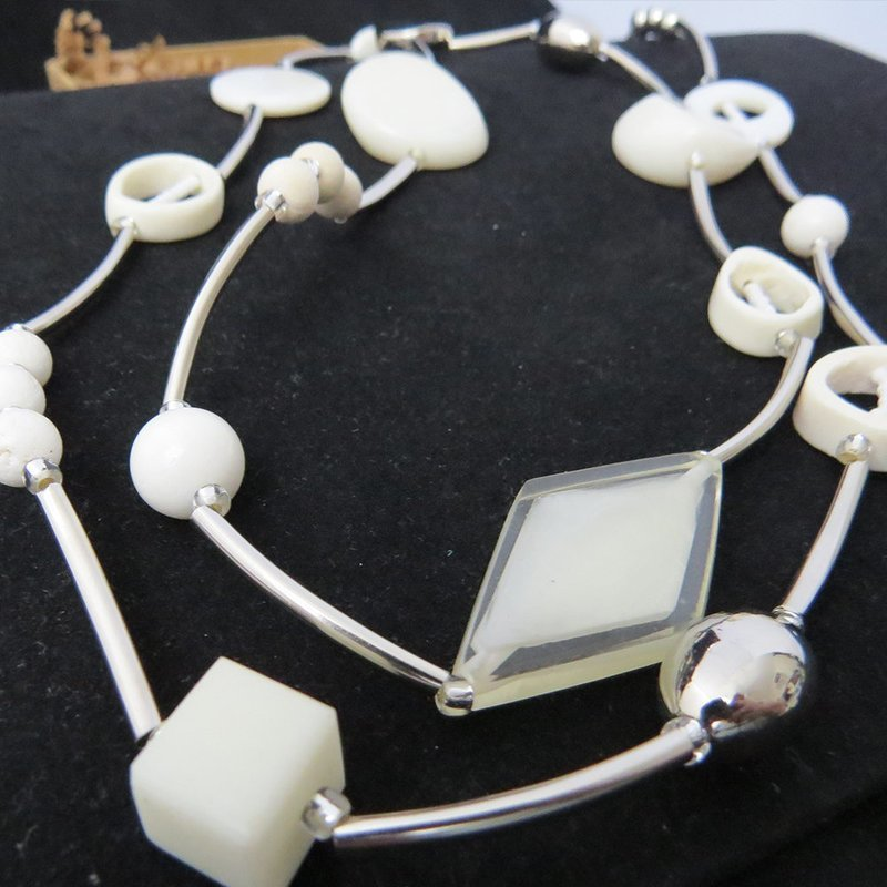 Stainless Steel White Beads Necklace