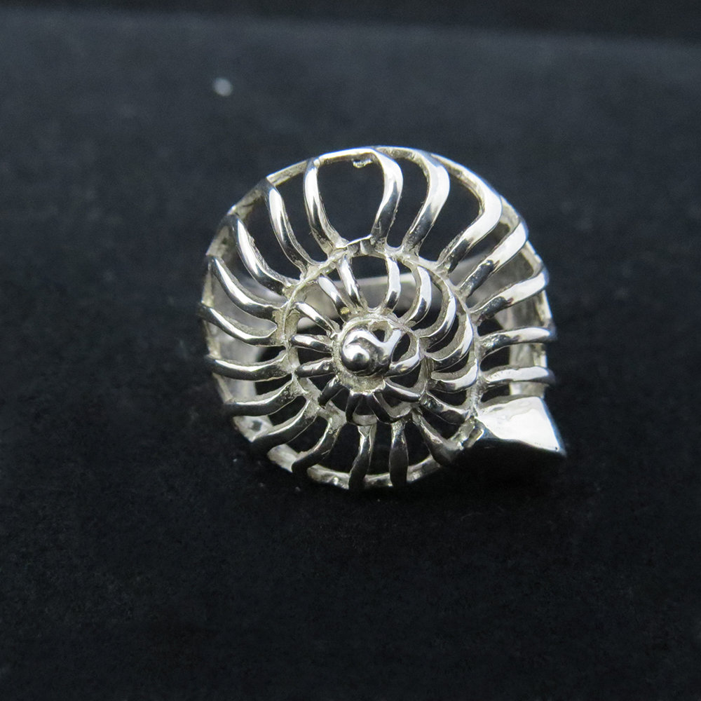 Sterling Silver Open Nautilus Shell Ring