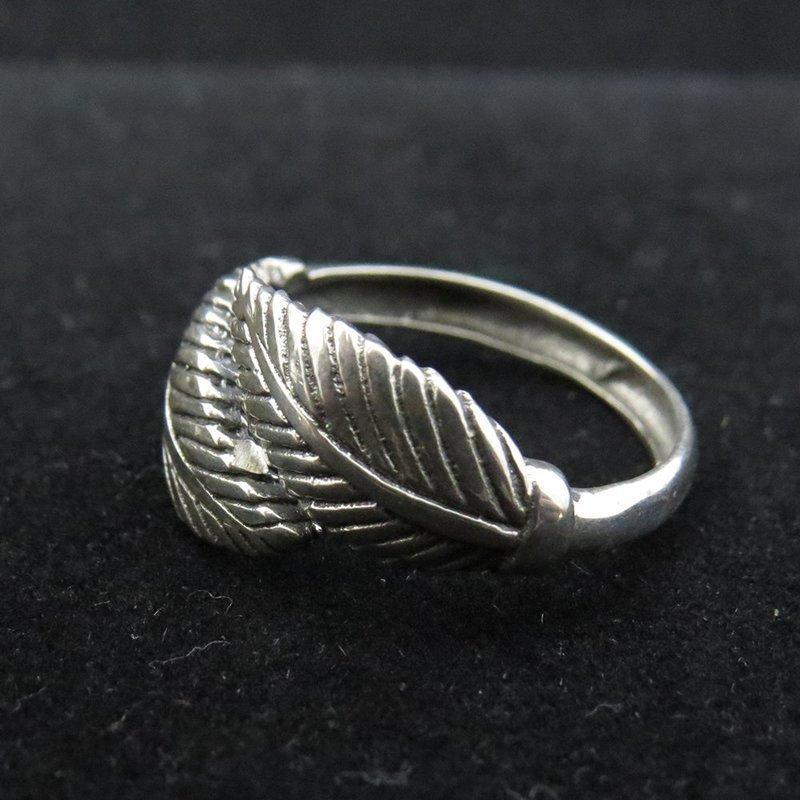 Sterling Silver Cross Over Leaf Design