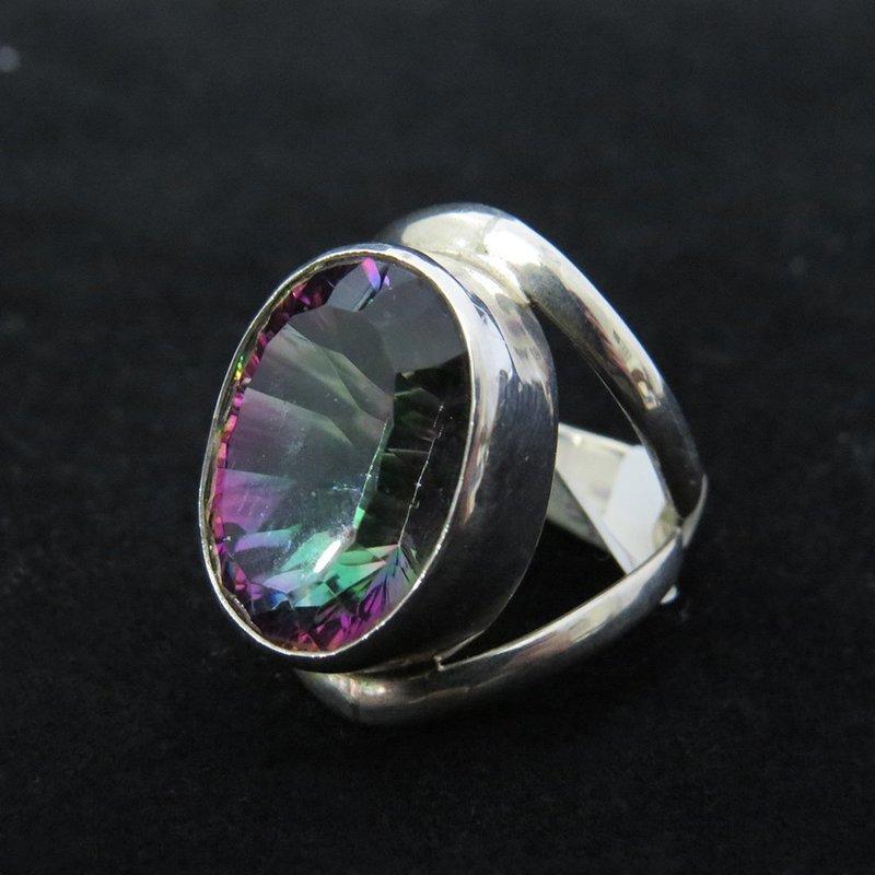 Sterling Silver Mystic Topaz Ring