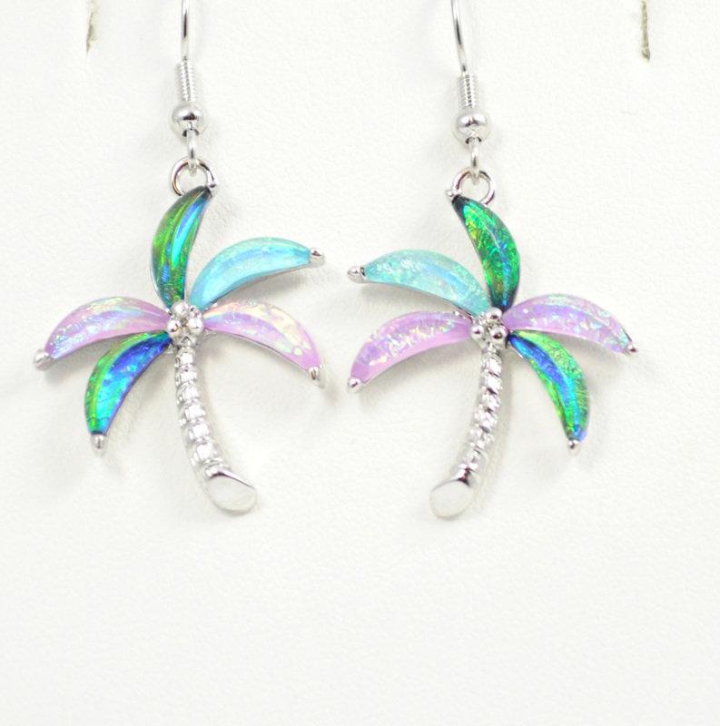 Palm Tree Multi-Color Earrings