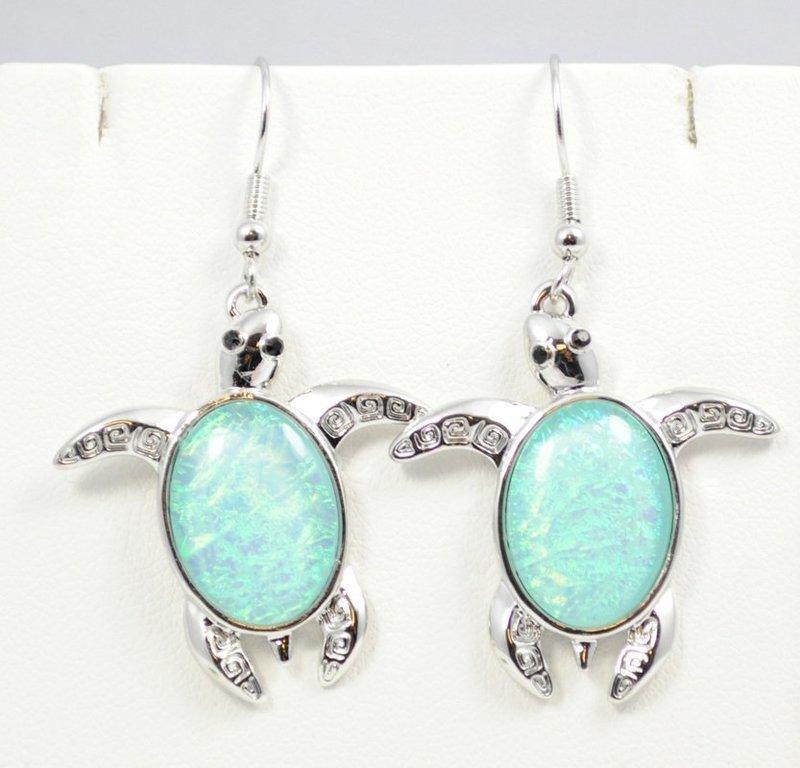 Sea Turtle Light Blue Earrings