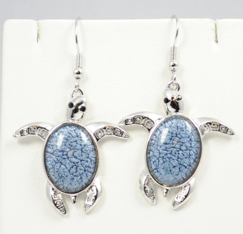 Sea Turtle Dark Blue Earrings