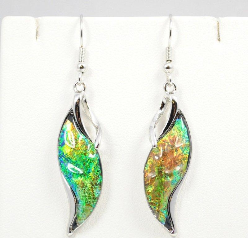 Waterfall Dark Green Earrings
