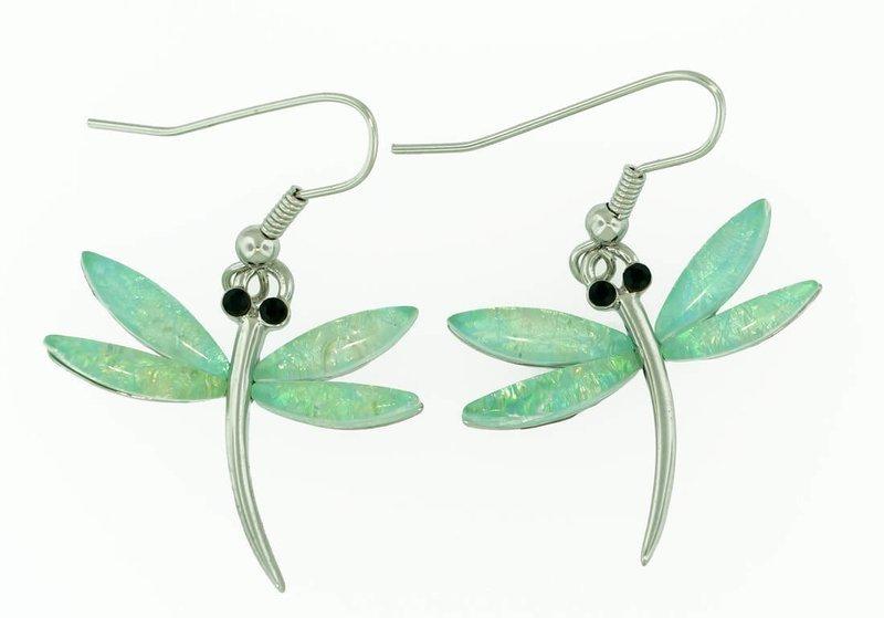 Dragon Fly in Light Blue Earrings