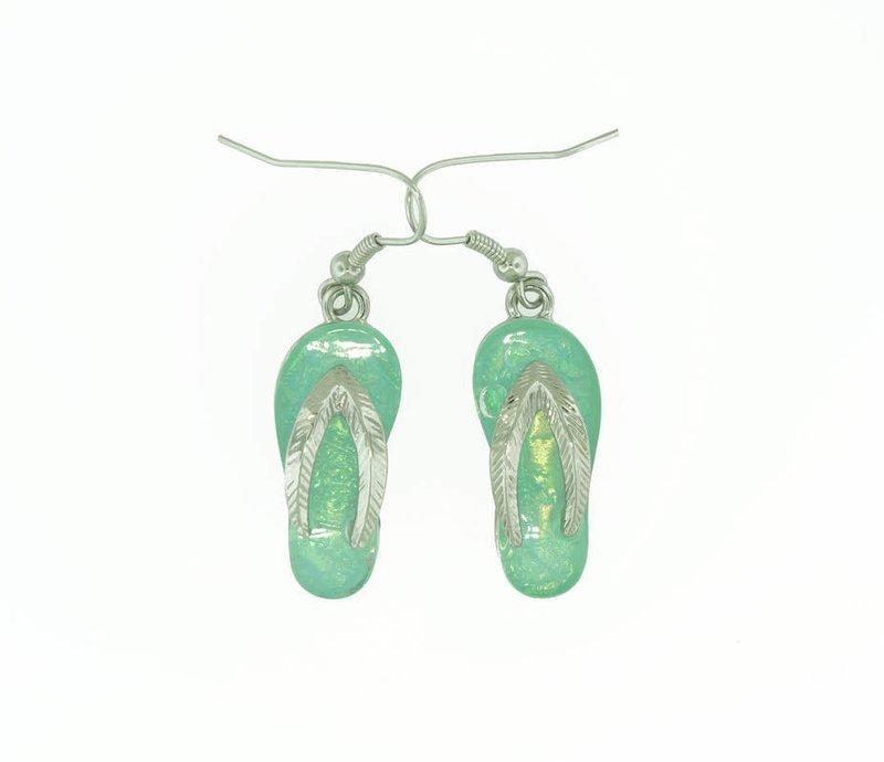 Flip/Flop Light Ocean Blue Earrings