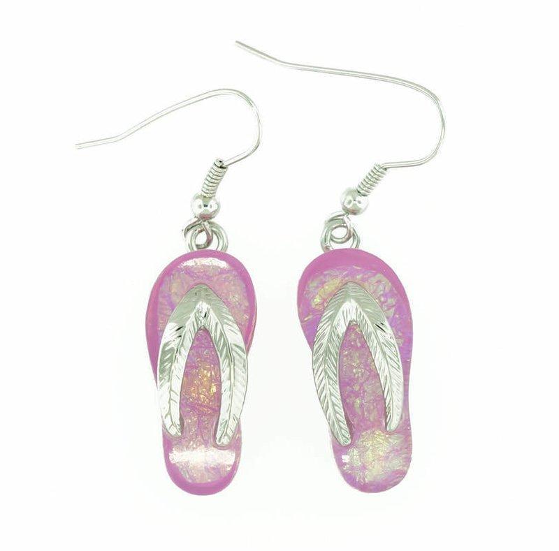 Flip/Flop Beach Pink Earrings