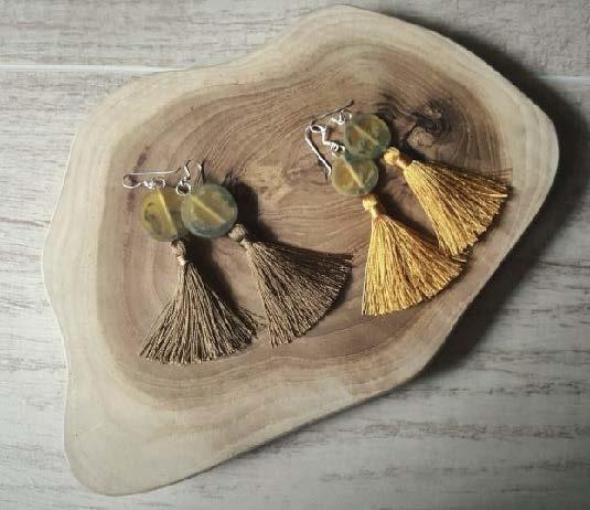 Sterling Silver Tassel Earrings