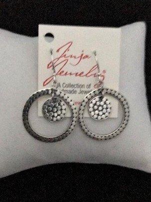 Sterling Silver Double Dot Earrings
