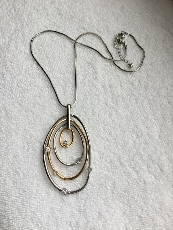 In-Orbit Oval Necklace
