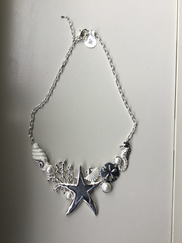 Starfish Coral Sandollar Necklace