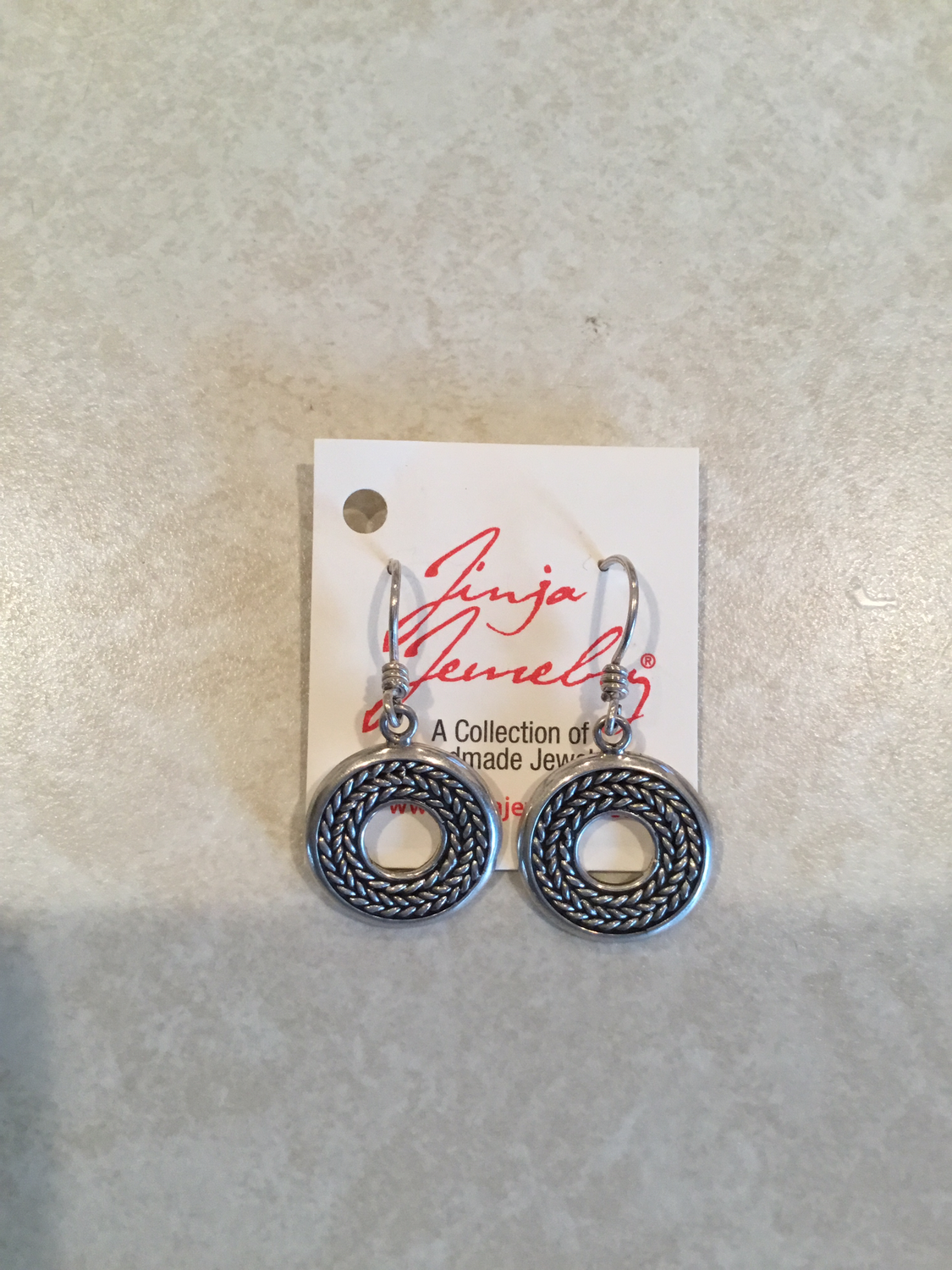 Sterling Silver Circle Rope Design